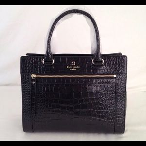 Kate spade black crocodile purse
